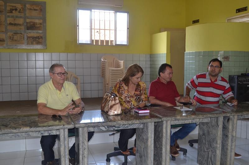 Vereador Francisco Leite, professora Geralda Alves, Ferdinan Guimarães, Raílton Souza.