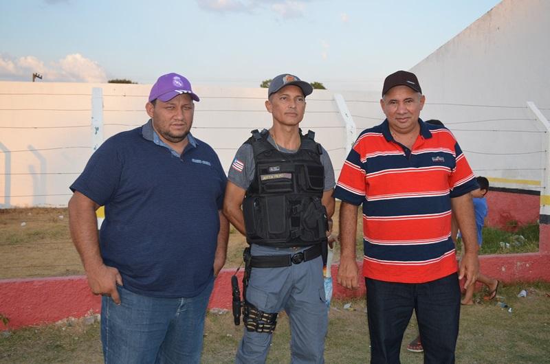 Juracy, Policial J. filho e prefeito Zé Hélio.
