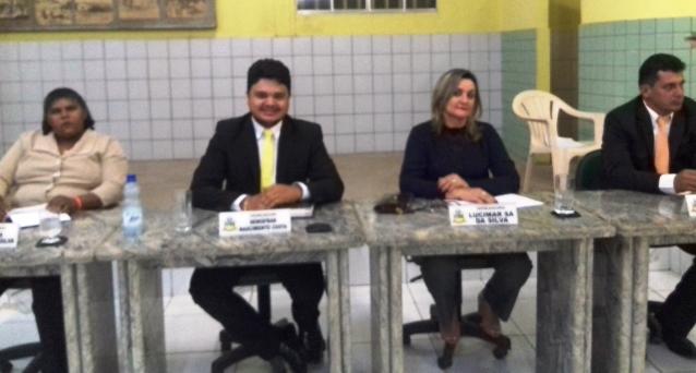 Vereadora Ana Célia, vereador Dênis, vereadora Lucimar e vereador Murilo.